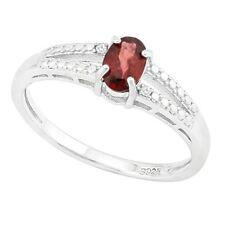 Damen Ring Tina, 925er Silber, 0,49 Kt. echter Granat/Diamant