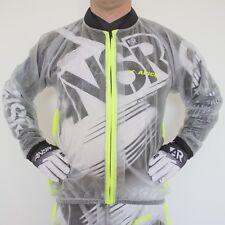 Apico Lluvia Chaqueta Impermeable Transparente/Amarillo Adulto Motocross MX Enduro BMX MTB Quad