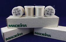Madeira Thread Size 80/100% Cotton Thread/200m Spool/White, Natural, Pink/NEW