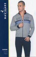 c8f59bd9b Pijama abierto con cremallera manga larga para hombre forro de algodón  Remoto Art. 140836