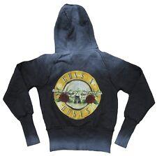Amplified Guns N 'Roses Drums logotipo capucha Hoodie hoody chaqueta Lady: XS/s Kids: 164