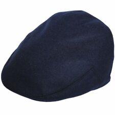 G&H Classic Wool Flat Cap Navy Blue