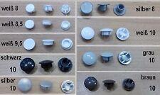 4 x Abdeckkappen Ø 8 -10 mm Lochkappen Abdeckstopfen für Schienen PVC Kappen neu