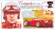 COVERSCAPE computer designed Tragedy at the Italian Grand Prix 50th event cover
