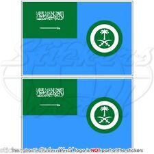 "SAUDI ARABIA AirForce Ensign Flag 75mm (3"") Vinyl Bumper Stickers, Decals x2"