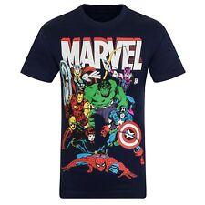 Marvel Comics - Camiseta oficial - Niño - Con personajes como Hulk,Iron Man,Thor