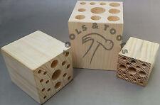 Bois outil support/bloc bijoux petites pièces lames de scie organisateur support 3 tailles