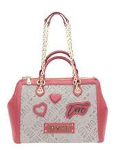 5774760e43c1 Love Moschino Women s Heart Patch Satchel Handbag