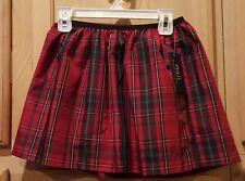 Polo Ralph Lauren Big Girls Holiday Red Plaid Taffeta Skirt, 6X - $45