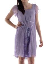 leidiro Kleid Dress Sommerkleid L7026P14S lila Seide bestickt Italy