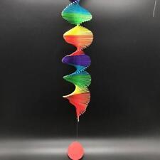 Rainbow Wind Spiral, Bamboo Mobile Hanging Decor Light Weight - Children's Room