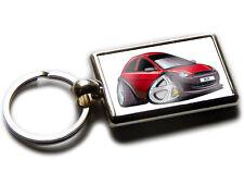 FORD KA 1996 Model Car Koolart Chrome Keyring Picture Both Sides