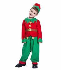 Kids Santa Helper Boys Christmas Elf Costume Xmas Fancy Dress Outfit Cosplay