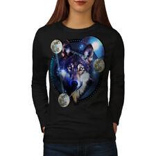 Galaxy Space Wolf Cosmos Women Long Sleeve T-shirt NEW | Wellcoda