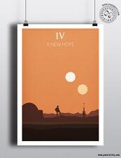 STAR WARS EPISODIO IV-Una nuova speranza minimalista POSTER posteritty design minimale