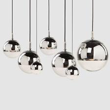 Glass Chromium-plating Pendant Modern Ceiling Light Hanging Fixtures