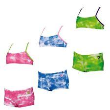 arena Mädchen Bikini Clouds Badehose Badeanzug Schwimmanzug Kinder blau pink