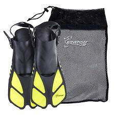 Seavenger Snorkel Swimming Training Fins Mesh Bag Set Combo Adult Kids Yellow