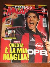FORZA MILAN 2002/3 POSTER GATTUSO RUI COSTA COSTACURTA RODA UEFA CUP ABATANTUONO
