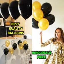"New Wholesale White Black Gold Silver 10"" Plain Latex Balloons Birthday Wedding"
