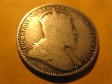 1904 CANADA SILVER 25 CENT COIN RARE!