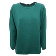 B7816 maglione donna KANGRA CASHMERE verde sweater woman