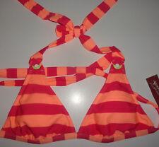 Ladies Arizona Pinkberry & Orange Stripe Bikini Swim Top Juniors S, M, L, XL