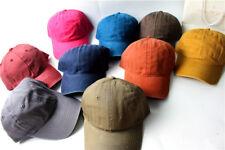 Summer Adjustable Washed Dyed Cotton Low Profile Baseball Cap Snapback Hat Retro