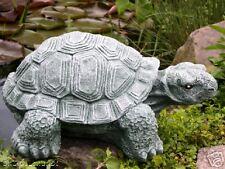 Steinfigur Schildkröte Gartenfigur Tierfigur Gartendeko Steinguss frostfest