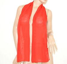 FOULARD STOLA donna da CERIMONIA tinta unita coprispalle abito elegante scarf 77