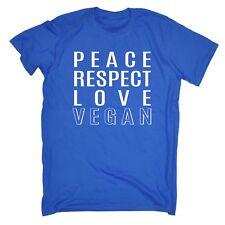 Peace Respect Love Vegan MENS T-SHIRT Tee birthday vegetarian diet health