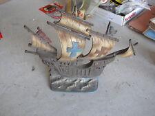 Big Antique Cast Iron Pirate Ship Door Stop Doorstop Look