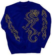 Sweatshirt unisex Shirt S M L Xl Xxl 3Xl 4Xl edler Druck Drache 10114 blau