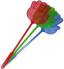 Fliegenklatschen mehrfarbig  42 cm schlagfestem Kunststoff Insektenschutz
