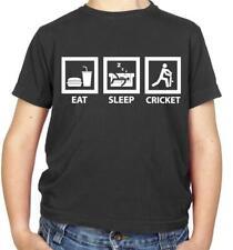 Eat Sleep Cricket - Kids T-Shirt - Team - Player - Sport - Sports - Fan - Merch