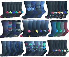 6 y 12 Pares de Calcetines de Algodón Rico Casual, hombre talla UK 6-11 whole sale
