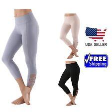 Women's Capri Cut & Sew Premium Active Yoga Sports Compression Leggings