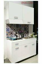 Mini Cucina Monoblocco 120 cm completa di Piano cottura lavello e cappa