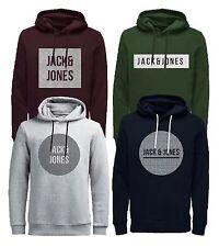 JACK & JONES Core Mens Overhead Hoodie Bak Logo Print Hooded Sweatshirt Top
