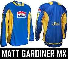 Jt Racing pro-tour Motocross Mx Camisa Jersey Azul / Amarillo Retro Evo Clásico Nuevo
