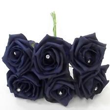 6 Diamante Schiuma Rose Cerimonia Fiori Tutti I Colori Per Bouquet o asole