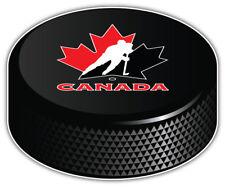 Canada Hockey Association NHL Logo Hockey Puck Car Bumper Sticker-3'',5'' or 6''
