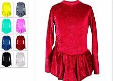 Kürkleid E20, Stretchsamt, 98-XL, Eiskunstlauf, Rollkunstlauf, Tanz