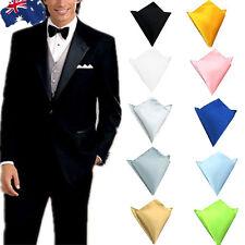 Men Solid Color Pocket Square Handkerchief Hanky Wedding Formal
