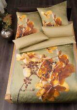 Estella Bettwäsche Florina 2081 oliv Schweizer Premium Satin Digitaldruck grün