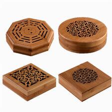 Bamboo Incense Box Sandalwood Furnace Coil Incense Burner Holder