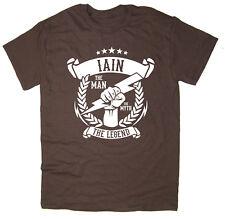 Iain - The Man, The Myth, The Legend T-Shirt - Christmas gift idea - 6 colours