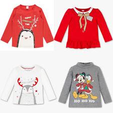 Baby Langarmshirt Bluse Weihnachten Mickey Mouse Bio-Baumwolle Glanz Effekt Lang