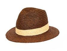 Brand NEW MEN'S brown estate rafia straw borsalino hat Antigua