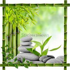 Aufkleber Sticker Rahmen Bambus Kiesel und Bambus Zen 7220 7220